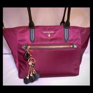 Michael Kors Large Burgundy Tote Shoulder Bag